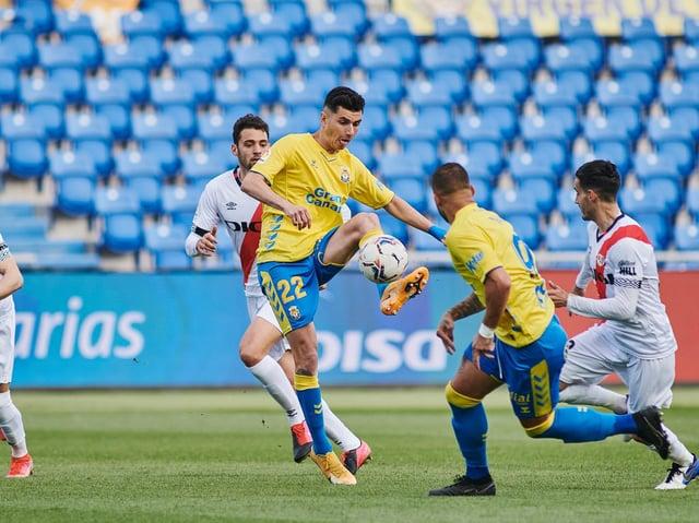 Leeds United loanee Rafa Mujica in action for Las Palmas. Pic: Getty