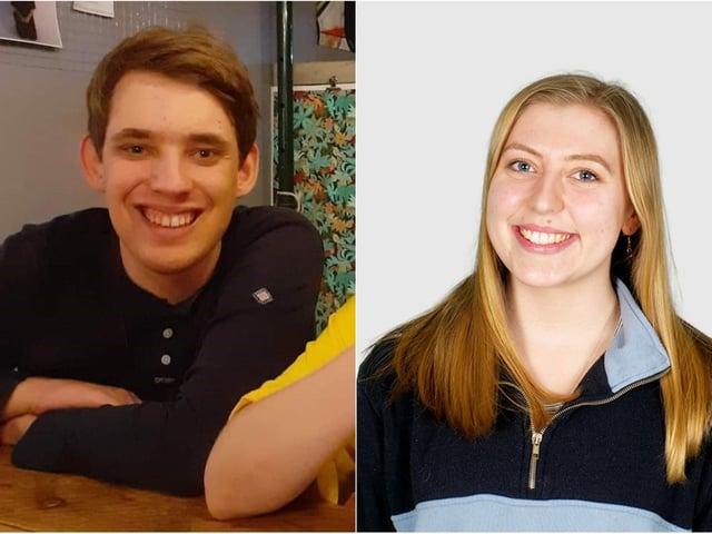 Leeds student Pablo John, 22, and Lotti Morton, the community officer at Leeds University Union
