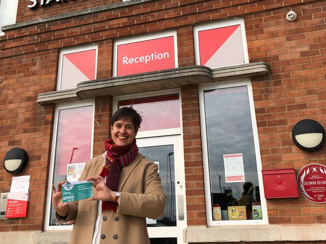 Kate Hainsworth, CEO at Leeds Community Foundation outside The Old Fire Station in Gipton