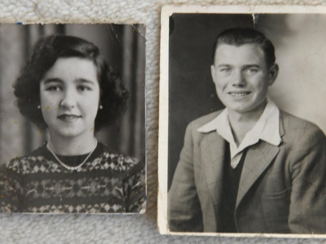 The photographs teenage sweethearts Margery Heaton and Ken Aveyard gave each other after meeting in 1950.