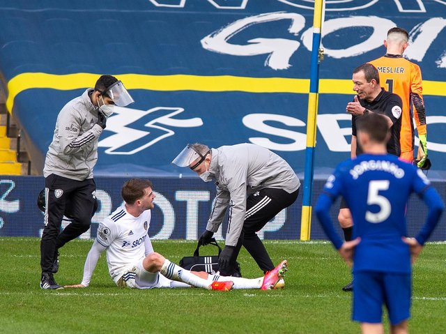 Leeds United striker Patrick Bamford suffered and injury against Chelsea last weekend. Pic: Bruce Rollinson