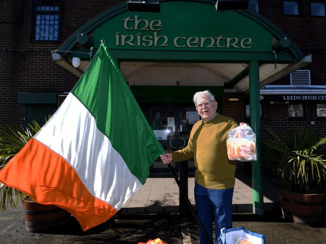 Leeds Irish Centre has been flying the flag for Ireland and its spirit during the lockdown. Pictured is centre manager Tommy McLoughlin.