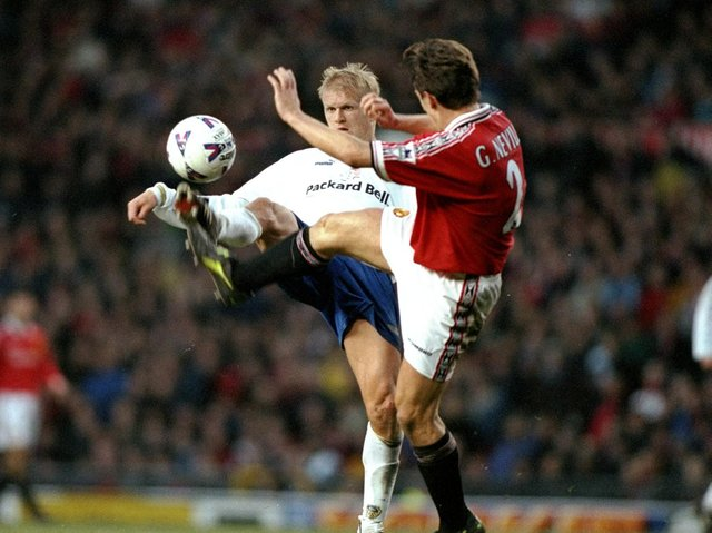 Enjoy these photo memories of Alf-Inge Haaland in action for Leeds United. PIC: Getty