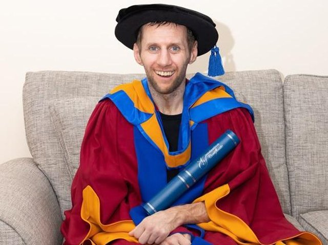 Rob Burrow MBE has been awarded an Honorary Doctor of Sport Science (photo: Leeds Beckett University)