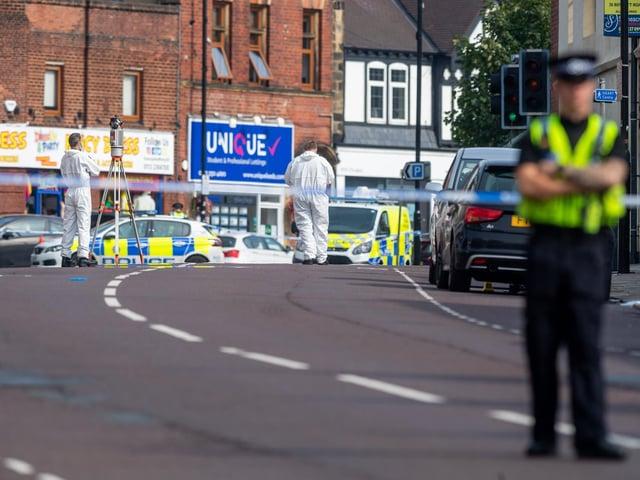 Crime scene on North Lane after fatal collision on September 14, 2020.
