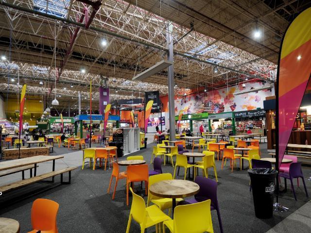 Leeds Market's food hall was reopened in 2016.