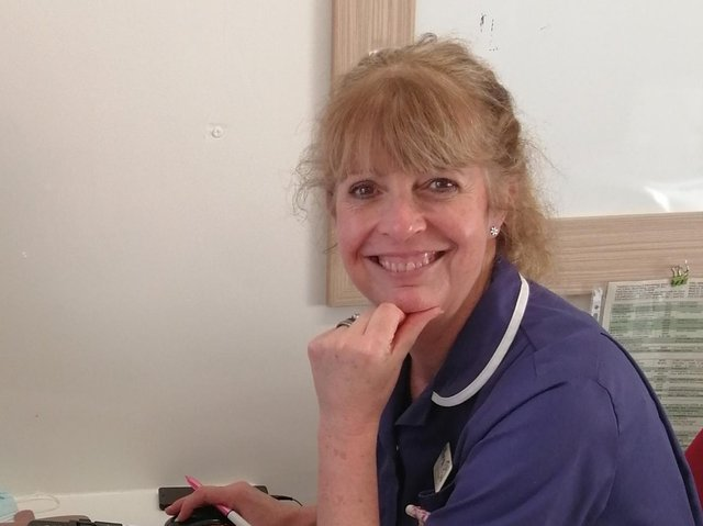 Nurse Carole Appleby retires this week after 33 years.