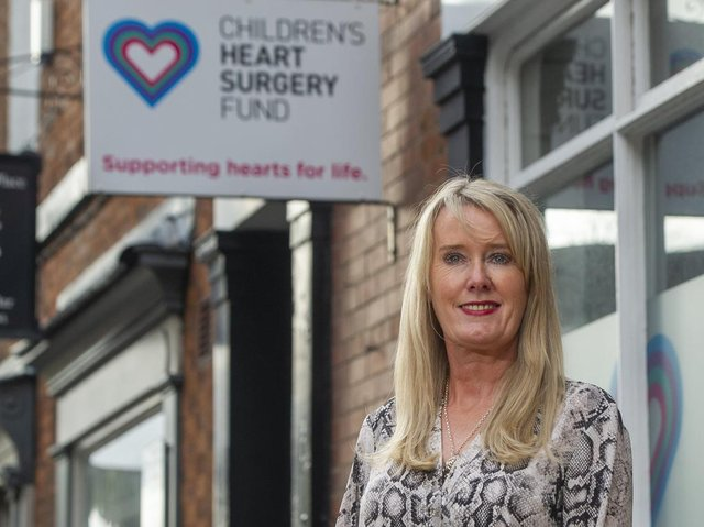 Sharon Milner, CEO of the Children's Heart Surgery Fund which today launches a campaign to buy an MRI Bike for the congenital heart unit. Picture: Tony Johnson