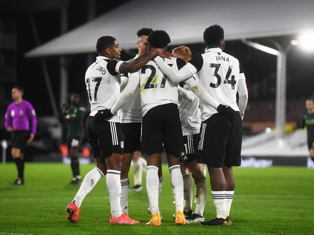 Fulham celebrate at Craven Cottage. Pic: Getty