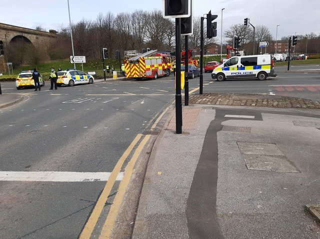 Kirkstall Road was closed for several hours.