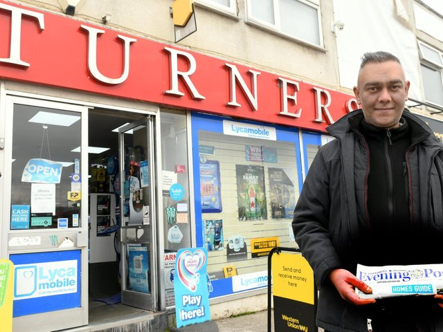 Newsagent George Aziz at Turners on Dewsbury Road in Leeds.  Picture: Gary Longbottom.