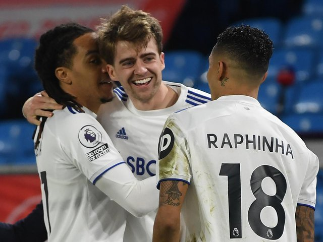 'INCREDIBLE': Leeds United striker Patrick Bamford, centre, celebrates netting his 13th goal of the season in last month's 3-0 win at home to Southampton. Photo by GARETH COPLEY/POOL/AFP via Getty Images.