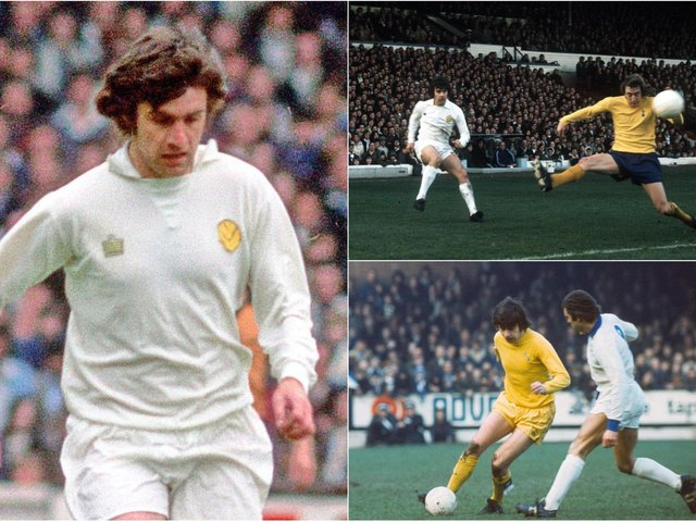 Peter Lorimer's best goals and shots. The Leeds United legend died aged 74 after a battle with illness. Photos: Varley Picture Agency/Getty