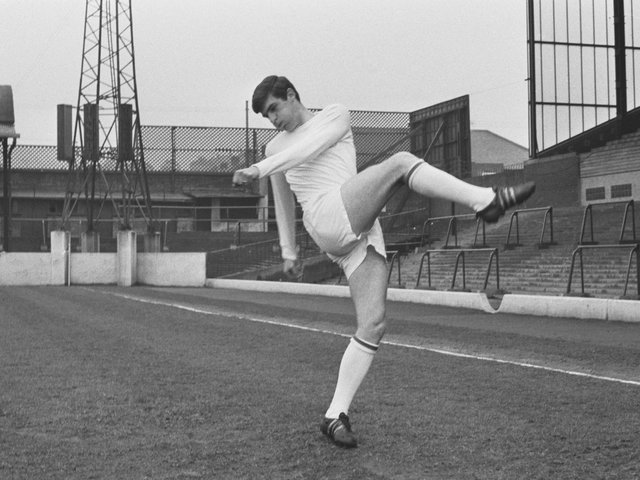 TRUE LEGEND: Former Leeds United star Peter Lorimer pictured back in April 1967. Photo by Evening Standard/Hulton Archive/Getty Images.