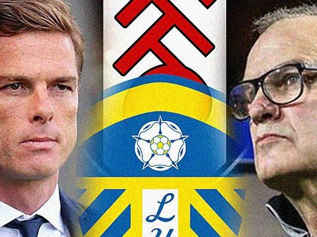 CLASH AT THE COTTAGE: Fulham boss Scott Parker, left, and Leeds United head coach Marcelo Bielsa, right. Graphic by Graeme Bandeira.