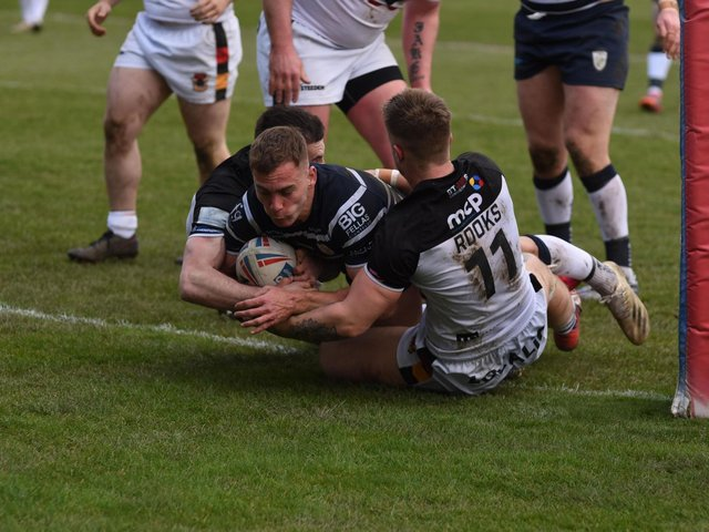 Connor Jones scores Rovers' first try. Picture by Dec Hayes Photography/Featherstone Rovers,