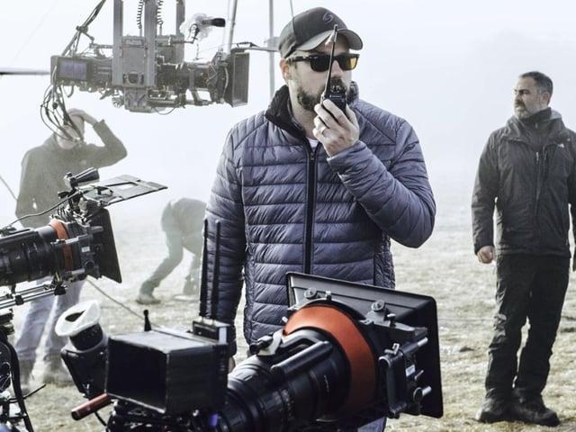 Der ehemalige Leeds Beckett-Student Fabian Wagner in Aktion als Kameramann.