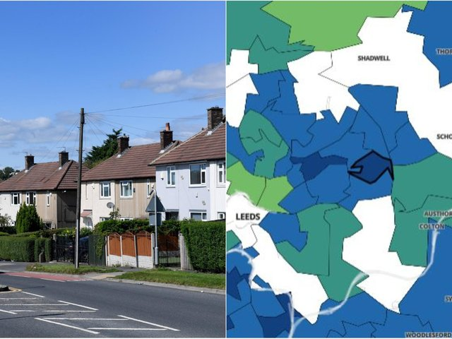 Here are the Leeds areas where Covid cases have more than doubled in the last week (Photo: Gov.UK)