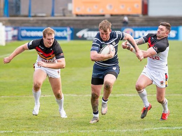 Josh Hardcastle in action for Featherstone against Bradford, Picture by Allan McKenzie/SWpix.com.