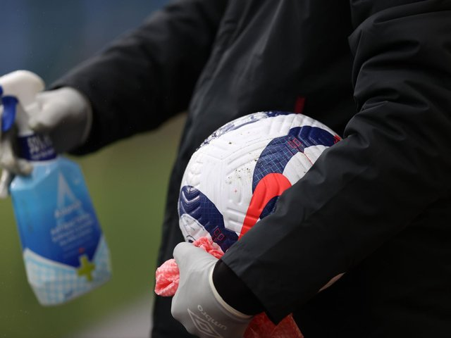 LATEST RESULTS: From the Premier League's testing for coronavirus. Photo by CLIVE BRUNSKILL/POOL/AFP via Getty Images.