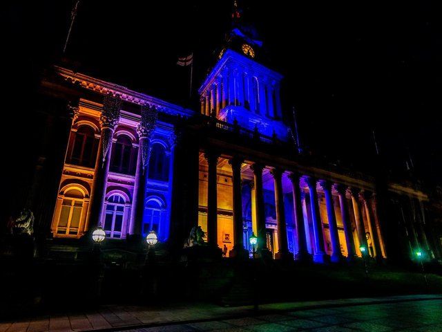 Civic buildings will be lit up in yellow throughout the evening to show support to people going through bereavement