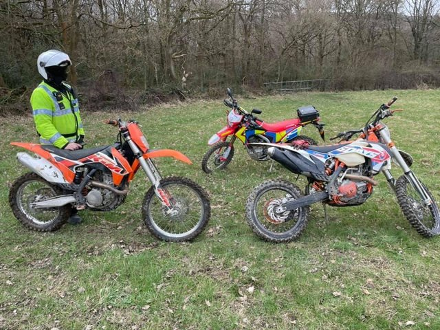 Police seize quad bike in Calverley woods after spotting small child passenger