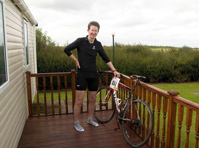 Algy Kazlauciunas was cycling in the Nidderdale beauty spot in the Yorkshire Dales on September 20 last year when he suddenly slipped and crashed into the side of a remote road (photo: SWNS)