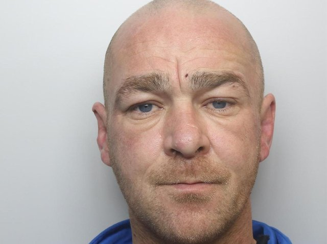 Christopher Roberts threatened to stab a resident on Lea Farm Place, Hawksworth.