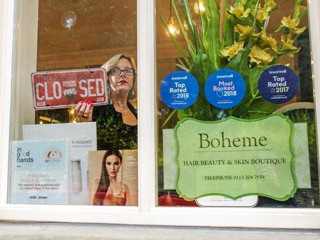 Becky Wendel owns Boheme Hair and Beauty Boutique in Farsley and will not book any appointments until it is confirmed that she can open (photo: Tony Johnson)