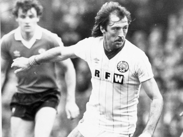 Frank Worthington in action for Leeds United in 1982. Pic: JPIMedia
