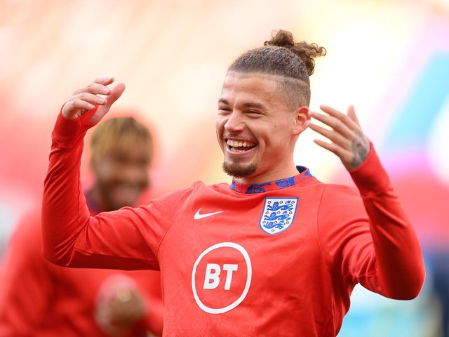 Kalvin Phillips, above, will be looking to add to his three caps with England.  Photo by Michael Regan/Getty Images.