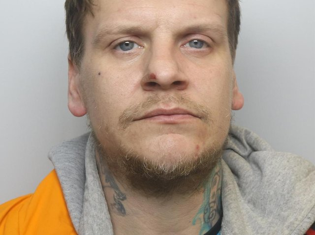 Gavin McGlinchey was jailed for two years for trying to burgle house on Vesper Road, Hawksworth, Leeds.