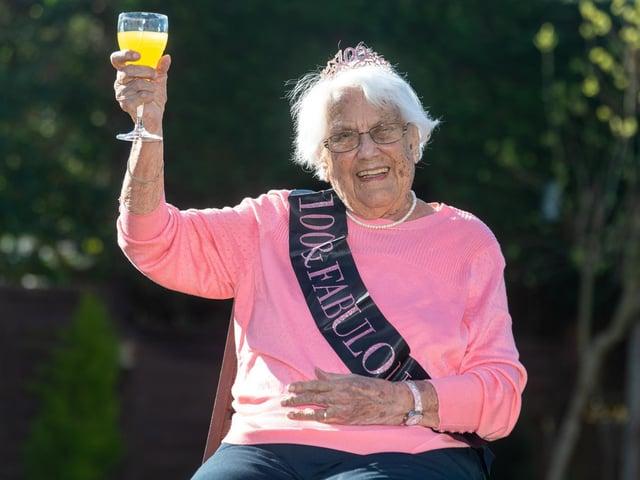 Frances Heaton is celebrating her 100th birthday  Photo: James Hardisty