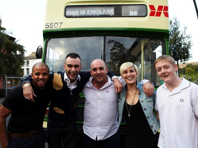 Shane Meadows centre, with the cast of This Is England