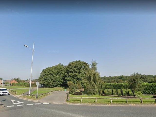 Junction where the kestrel was found in Allerton Bywater