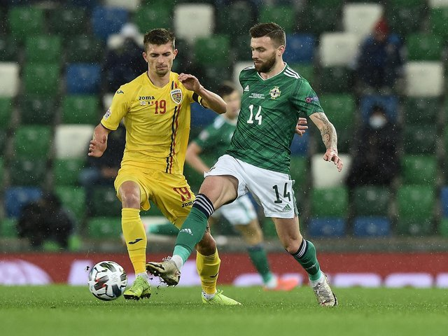 STARTING: Stuart Dallas, right, for Northern Ireland. Photo by Charles McQuillan/Getty Images.
