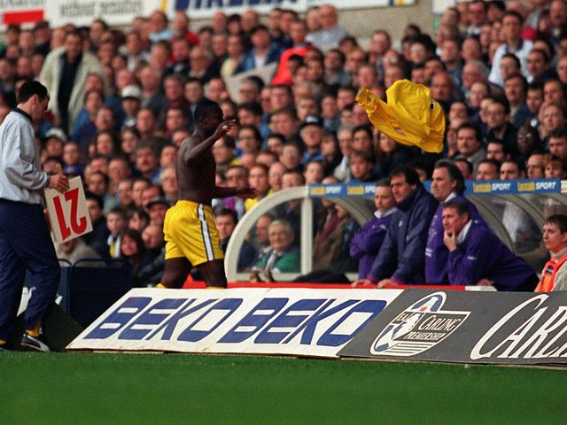 Did you witness Tony Yeboah's reaction to being substituted at White Hart Lane in March 1997? PIC: Dan Oxtoby