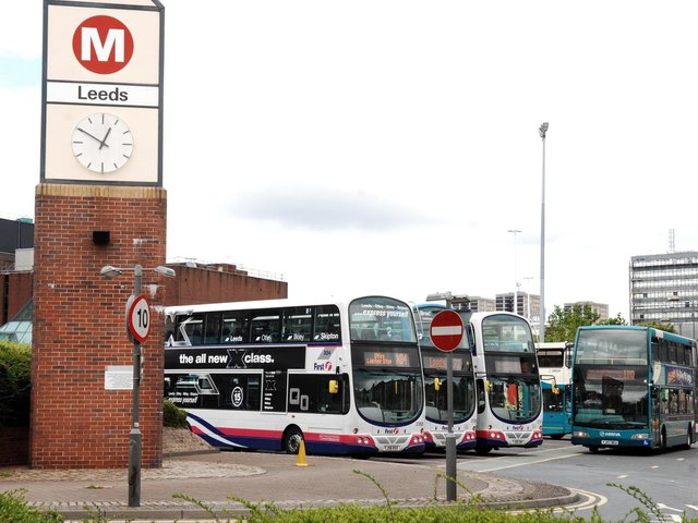 Leeds bus station.