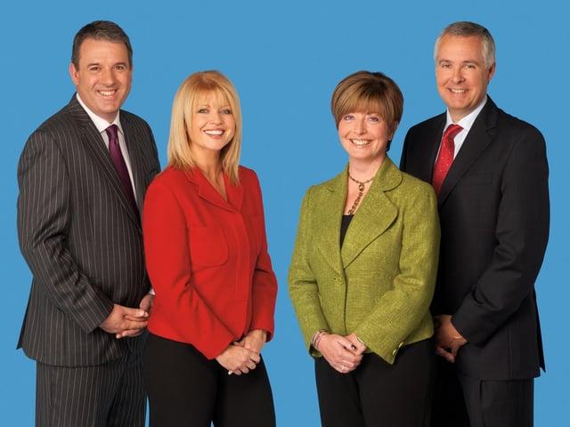 Calendar presenters Duncan Wood, Christine Talbot, Gaynor Barnes and John Shires. Photo: ITV