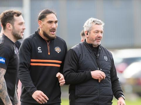 Daryl Powell, right, has high hopes for Tigers this season. Picture by Allan McKenzie/SWpix.com.