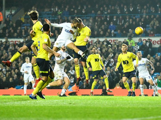 FOND MEMORY - Kemar Roofe heading in the stoppage time winner for Leeds United against Blackburn Rovers. Pic: Getty