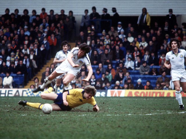 TREBLE TONIC: For Leeds United winger Eddie Gray, pictured above in action in 1978. Photo by Varleys.