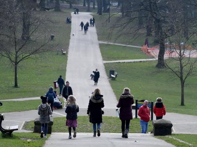 People enjoying Roundhay Park.