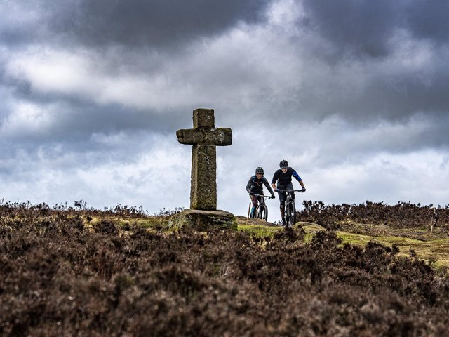 Cyclists out on Ilkley Moor at the weekend.