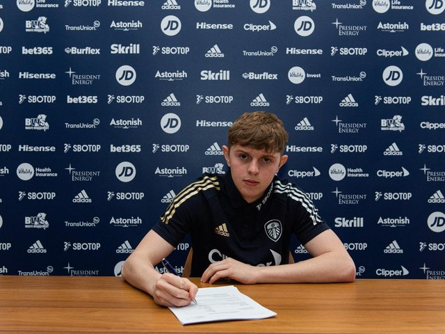 RISE UP THE RANKS: For 17-year-old Leeds United forward Max Dean. Picture by Leeds United FC.