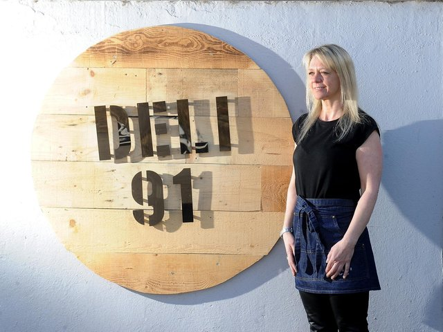 Nicola Tomlinson outside Deli 91 at The Beulah. PIC: Simon Hulme
