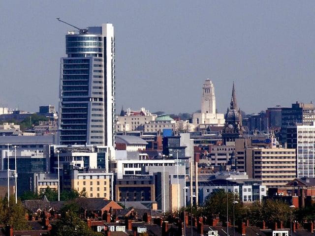 The Leeds skyline.