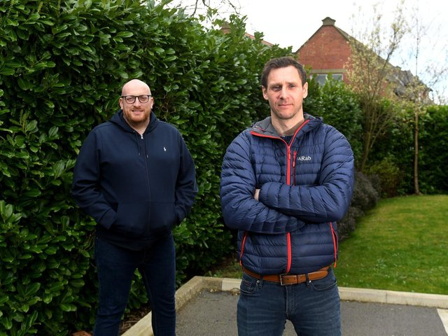 Brendan Hickinson, right, and his business partner Aaron Willis run The Veterans Competitions Ltd