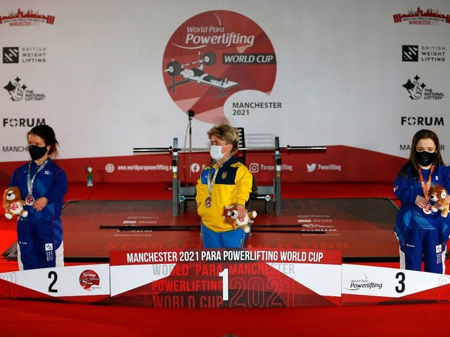 Charlotte McGuinness won the medal in the women up to 50kg category with a lift of 74kg.