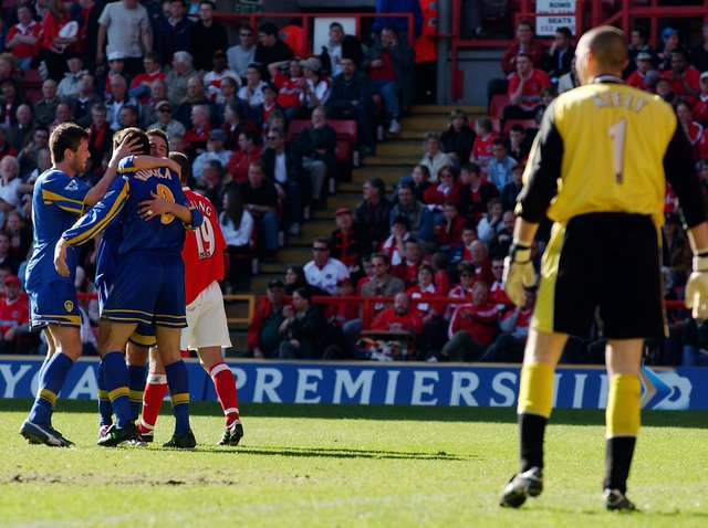 Enjoy these photo memories from Leeds United's 6-1 win at The Valley in April 2003. PIC: Getty
